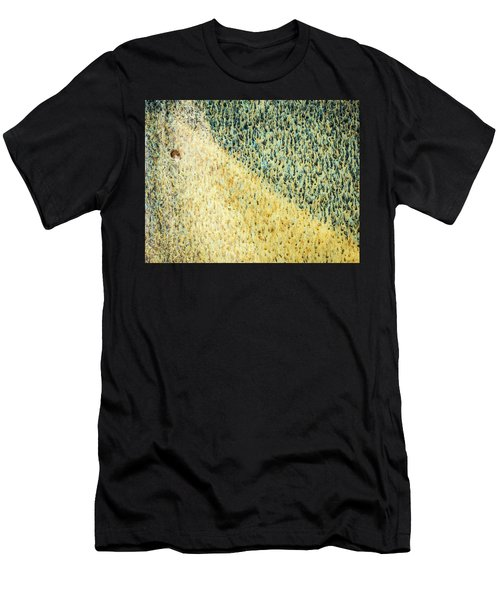 Men's T-Shirt (Athletic Fit) featuring the photograph Green/yellow Abstract Two by David Waldrop