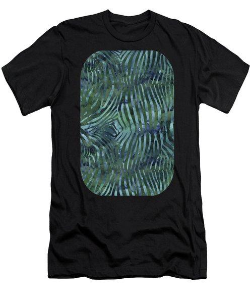 Green Zebra Print Men's T-Shirt (Athletic Fit)