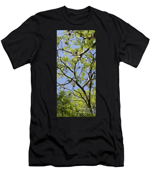 Greenery Center Panel Men's T-Shirt (Athletic Fit)