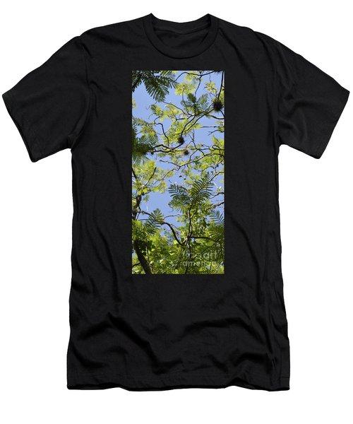 Greenery Left Panel Men's T-Shirt (Slim Fit) by Renie Rutten