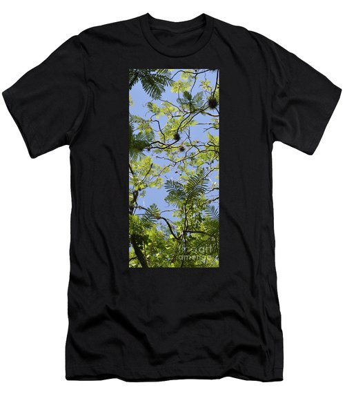Greenery Left Panel Men's T-Shirt (Athletic Fit)
