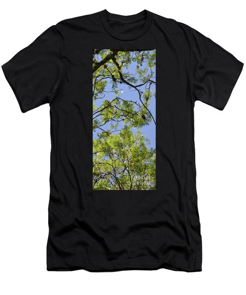 Greenery Right Panel Men's T-Shirt (Athletic Fit)