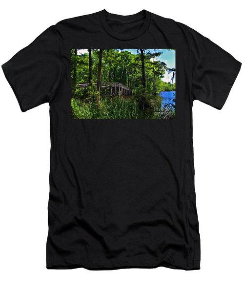 Greenfield Lake Bridge Men's T-Shirt (Athletic Fit)