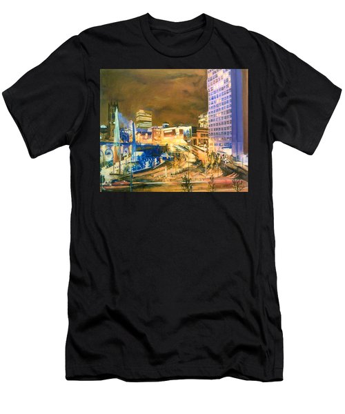 Greengate, Salford, Manchester At Night Men's T-Shirt (Athletic Fit)