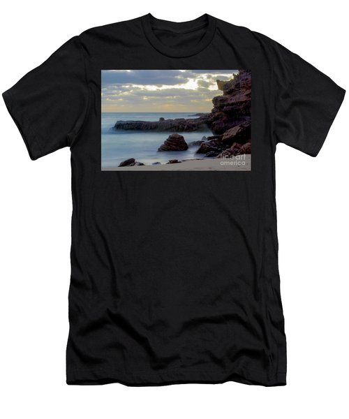 Men's T-Shirt (Athletic Fit) featuring the photograph Greenglades Beach Morning by Angela DeFrias