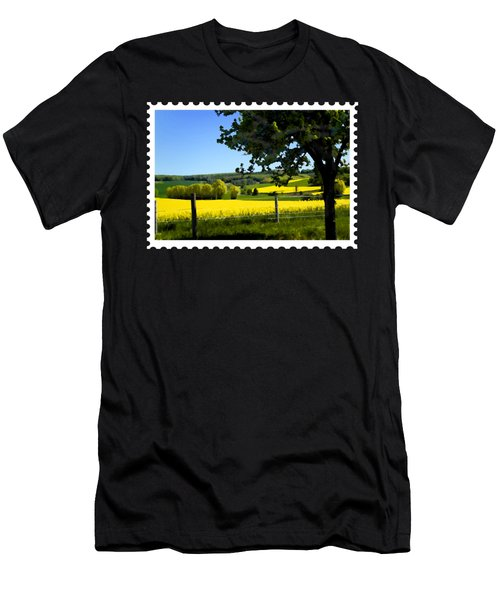 Greens And Golds Of Spring Farm Field Men's T-Shirt (Athletic Fit)