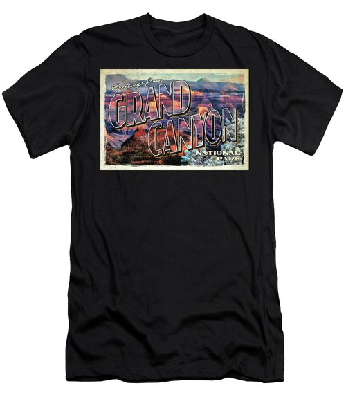 Greetings From Grand Canyon National Park Men's T-Shirt (Athletic Fit)