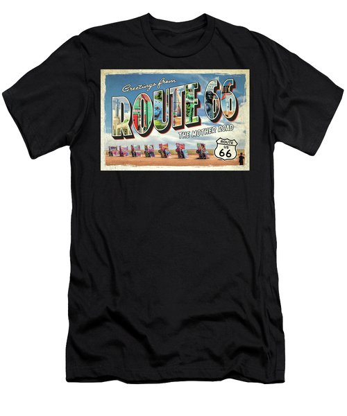 Greetings From Route 66 Men's T-Shirt (Athletic Fit)