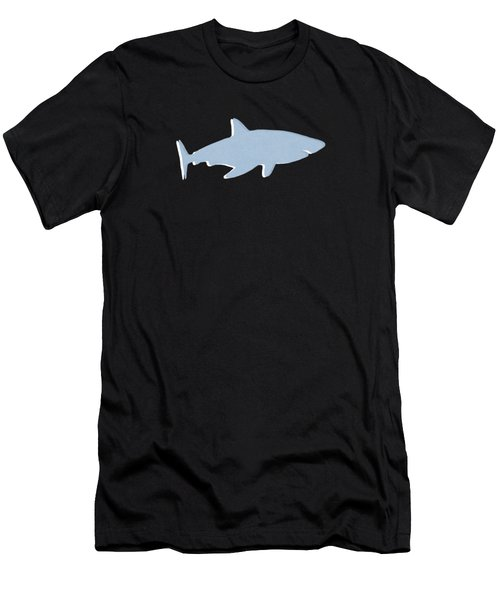 Grey And Yellow Shark Men's T-Shirt (Athletic Fit)