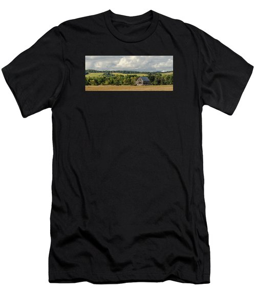 Men's T-Shirt (Slim Fit) featuring the photograph Grey Barn by Dan Traun