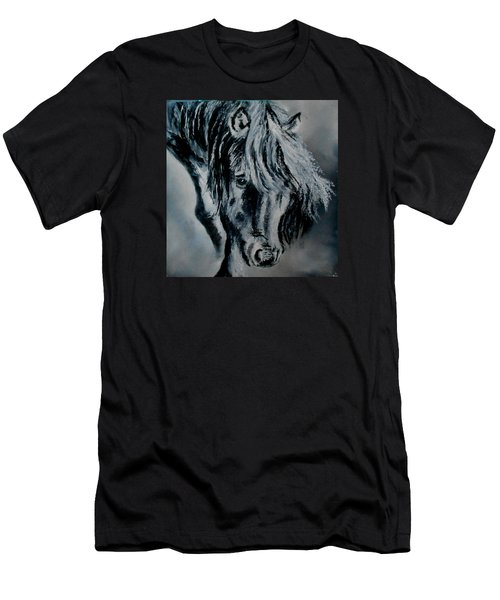Grey Horse Men's T-Shirt (Athletic Fit)