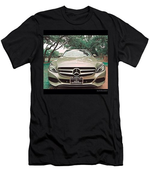 #grey #sky And A #silver Grey #car Men's T-Shirt (Athletic Fit)