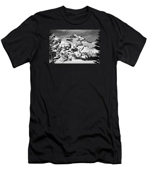 Grey Wolf Peak, Mission Mountains Men's T-Shirt (Athletic Fit)