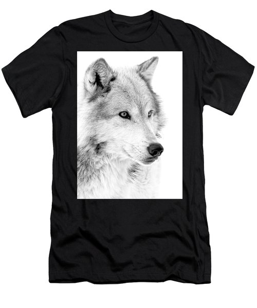 Grey Wolf Profile Men's T-Shirt (Athletic Fit)