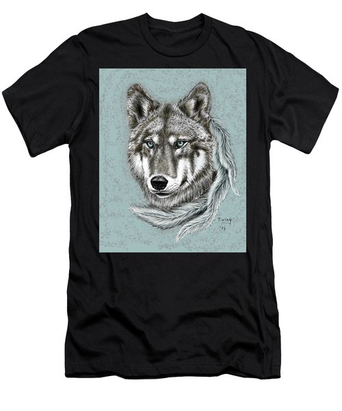 Grey Wolf Men's T-Shirt (Athletic Fit)
