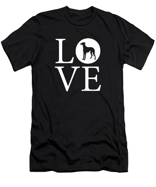 Greyhound Love Red Men's T-Shirt (Athletic Fit)