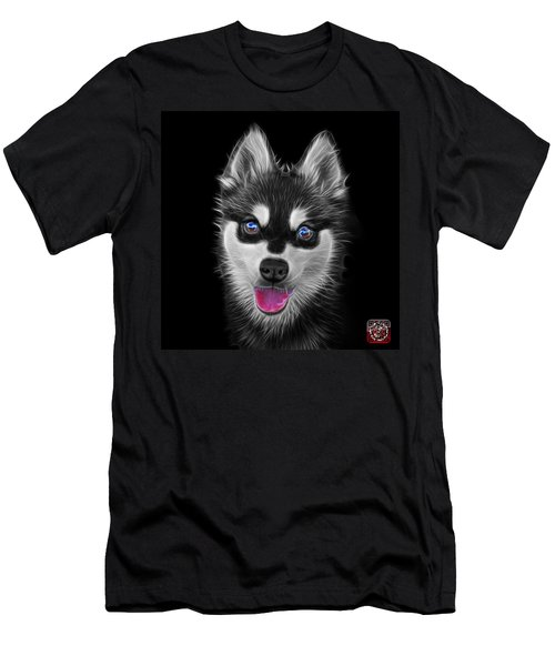 Greyscale Alaskan Klee Kai - 6029 -bb Men's T-Shirt (Athletic Fit)