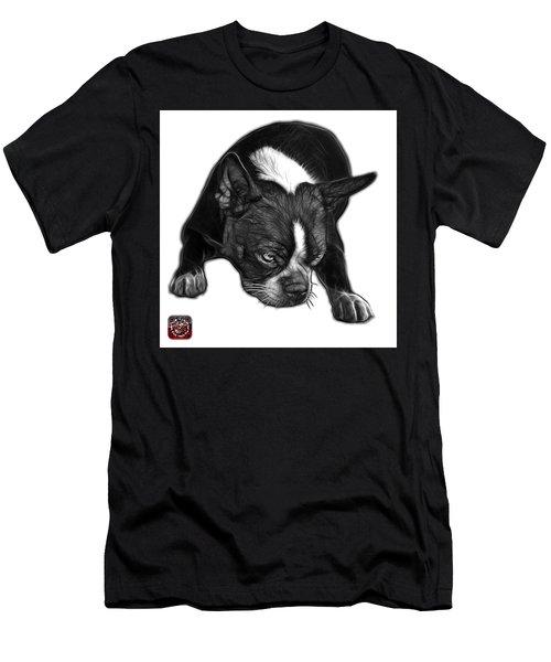 Greyscale Boston Terrier Art - 8384 - Wb Men's T-Shirt (Athletic Fit)