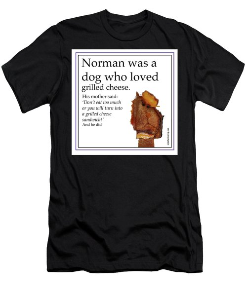 Grilled Cheese Dog Men's T-Shirt (Athletic Fit)
