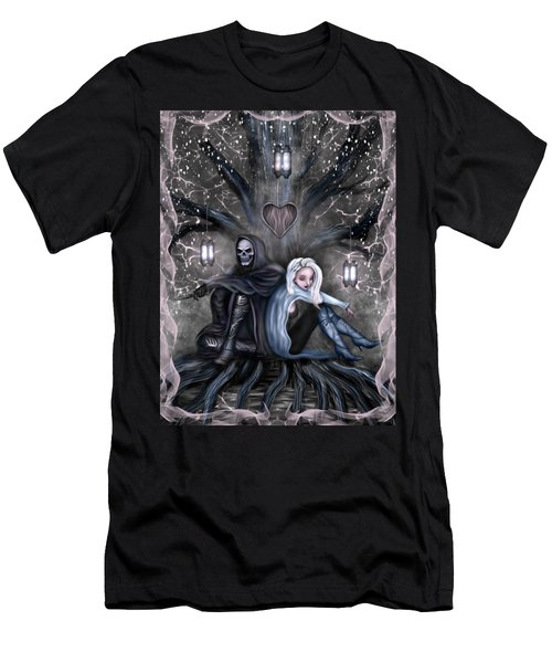 Men's T-Shirt (Athletic Fit) featuring the painting Love Is Complicated Fantasy Art by Raphael Lopez