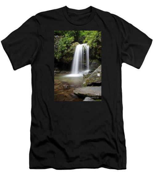 Grotto Falls Vertical Men's T-Shirt (Athletic Fit)