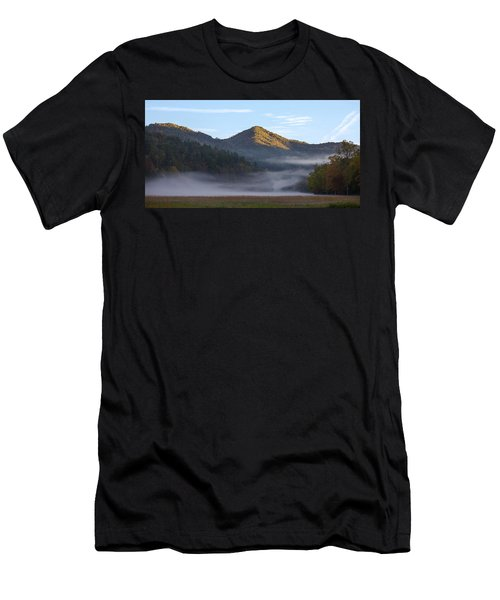 Ground Fog In Cataloochee Valley - October 12 2016 Men's T-Shirt (Athletic Fit)