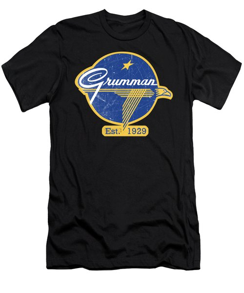 Grumman Est 1929 Distressed Men's T-Shirt (Athletic Fit)