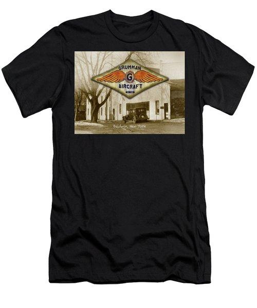 Grumman Wings Men's T-Shirt (Athletic Fit)