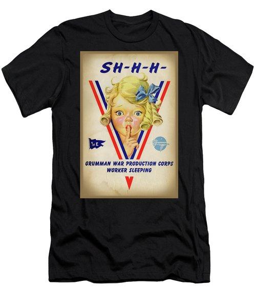 Grumman Worker Sleeping Poster Men's T-Shirt (Athletic Fit)