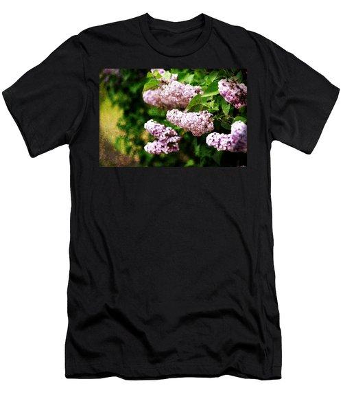 Grunge Lilacs Men's T-Shirt (Athletic Fit)