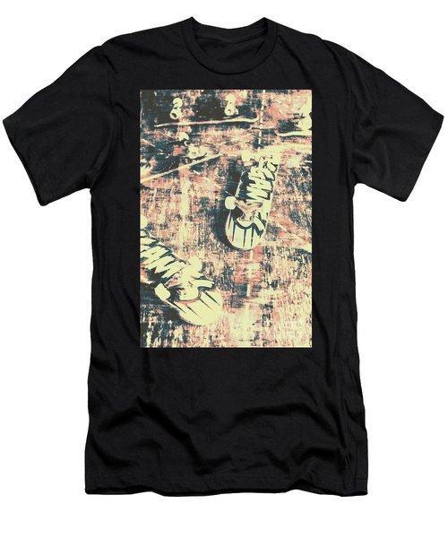 Grunge Skateboard Poster Art Men's T-Shirt (Athletic Fit)