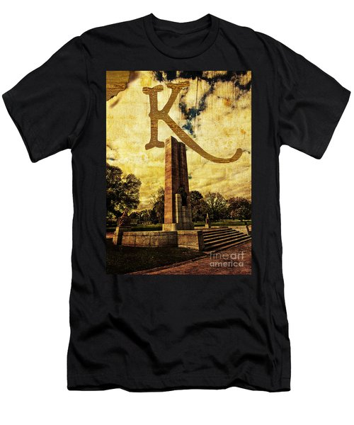 Grungy Melbourne Australia Alphabet Series Letter K Kings Domain Men's T-Shirt (Athletic Fit)