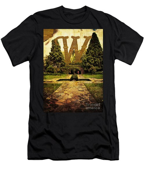 Grungy Melbourne Australia Alphabet Series Letter W Pioneer Wome Men's T-Shirt (Athletic Fit)