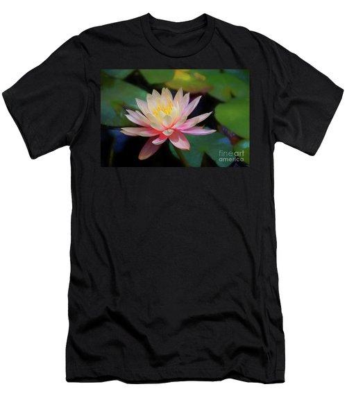 Grutas Water Lilly Men's T-Shirt (Slim Fit) by John Kolenberg