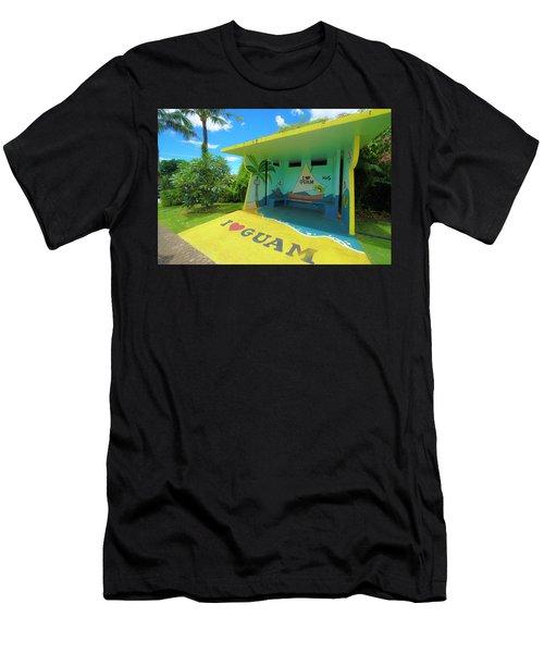 Guam Bus Stop Men's T-Shirt (Athletic Fit)