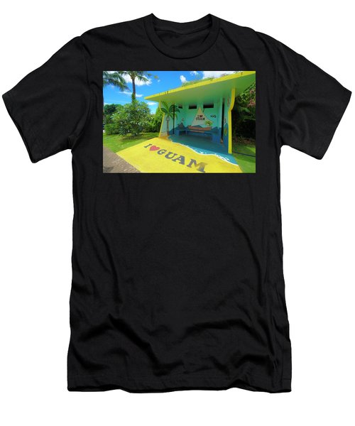 Guam Bus Stop Men's T-Shirt (Athletic Fit)