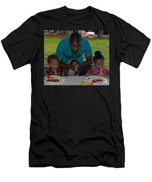 Guest Family Praying Men's T-Shirt (Athletic Fit)