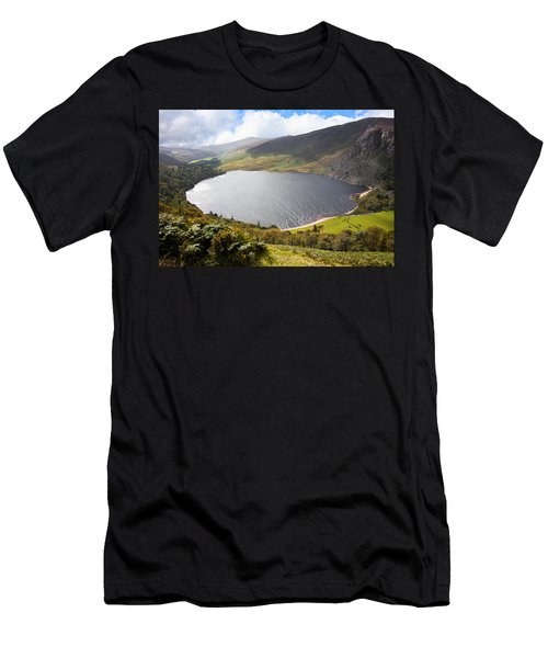 Guinness Lake In Wicklow Mountains  Ireland Men's T-Shirt (Slim Fit) by Semmick Photo