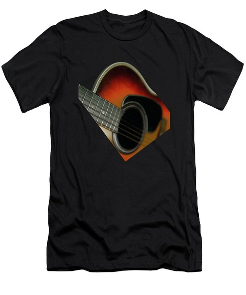 Guitar  Acoustic Close Up Men's T-Shirt (Athletic Fit)