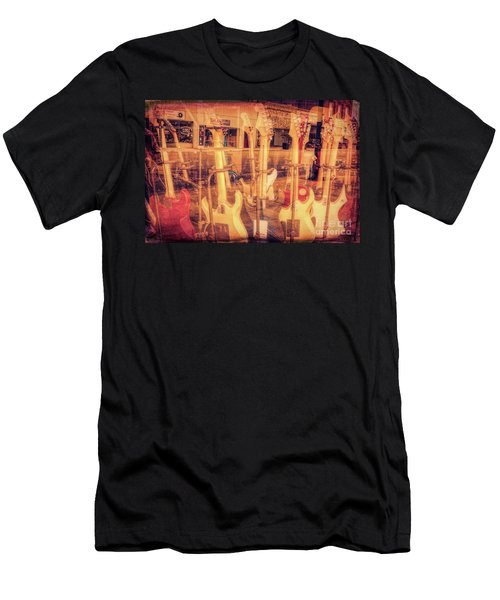 Guitar Reflections Men's T-Shirt (Athletic Fit)