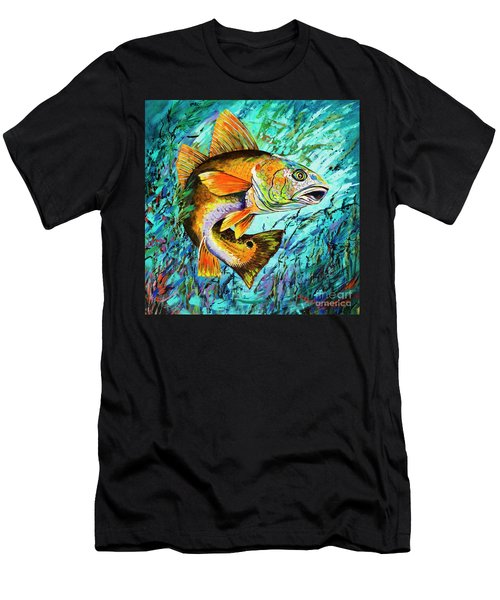 Men's T-Shirt (Slim Fit) featuring the painting Gulf Coast Red by Dianne Parks