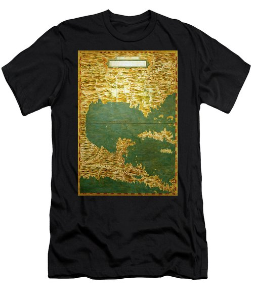 Gulf Of Mexico, States Of Central America, Cuba And Southern United States Men's T-Shirt (Athletic Fit)