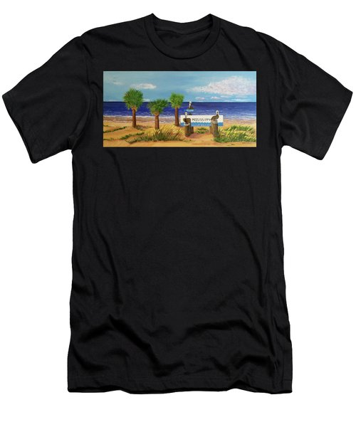 Gulf Shore Welcome Men's T-Shirt (Athletic Fit)