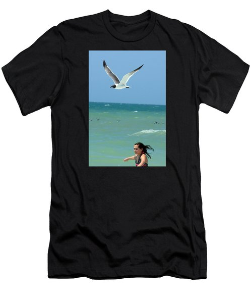 Gull And Girl Men's T-Shirt (Athletic Fit)