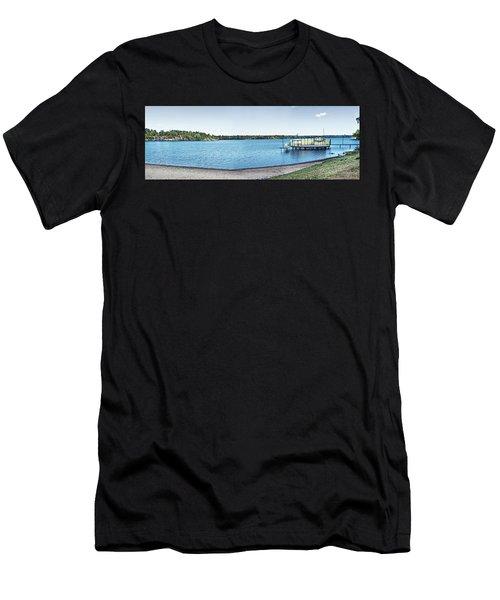 Gull Lake Panorama Men's T-Shirt (Athletic Fit)