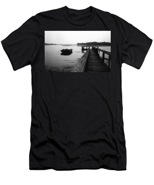 Gullah Coast Bateau Bw Men's T-Shirt (Athletic Fit)