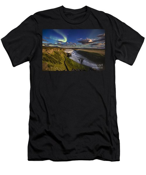 Gullfoss Iceland Men's T-Shirt (Athletic Fit)