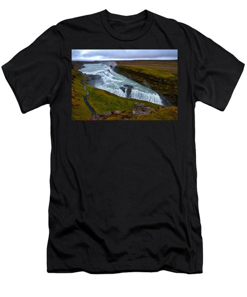 Gullfoss Waterfall #2 - Iceland Men's T-Shirt (Athletic Fit)
