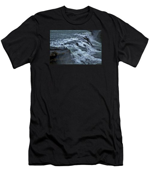 Gullfoss Waterfall #6 - Iceland Men's T-Shirt (Athletic Fit)