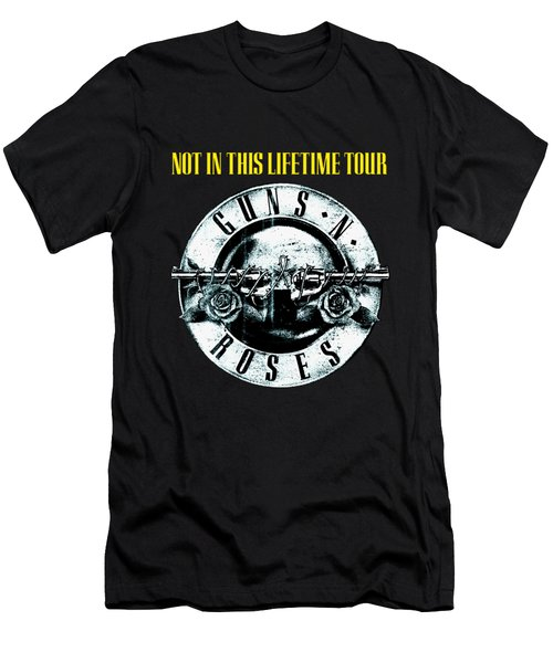 Guns And Roses Logo1 2017 Men's T-Shirt (Athletic Fit)